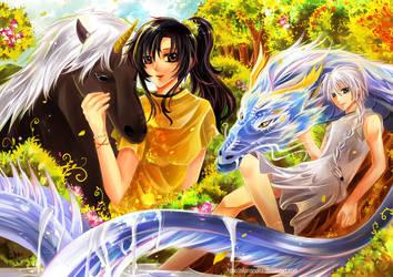 Com: Pegasus and Dragon by NilaNandita