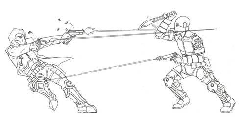 Shackle Vs. Gun Wraith Ver. 1 by Kagehiisa