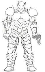 Warclad's New Armor by Kagehiisa