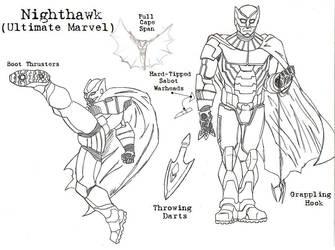 Ultimate Defenders: Nighthawk by Kagehiisa