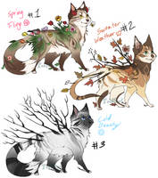 Seaonal Cat adopts! by Teal0wl