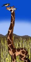 giraffe-african plains by Hippoduck