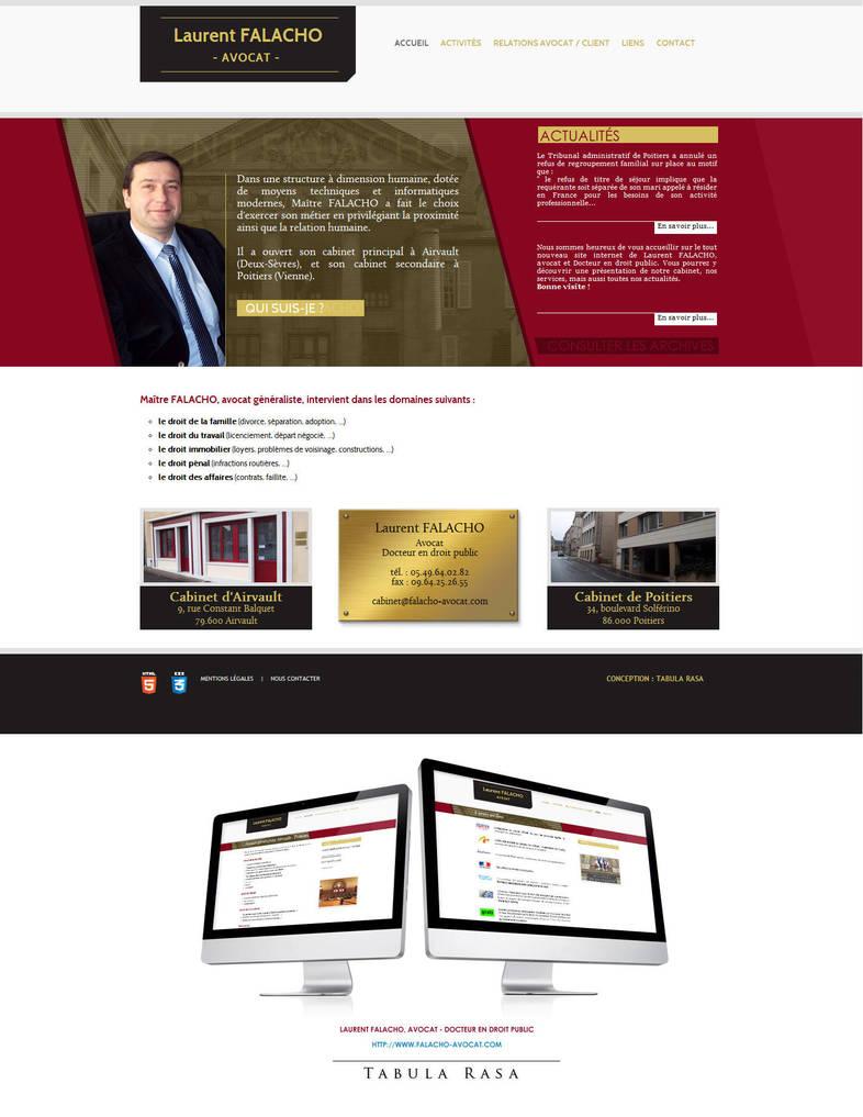 Falacho avocat Website by TabulaRasaStudio