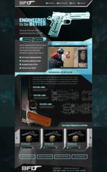 Guns website concept by jansin