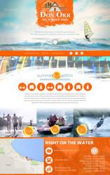 Surf and Ski shop website concept by jansin