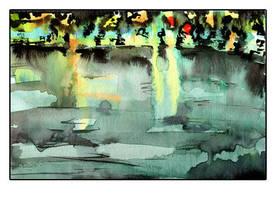 Night Lake by GalacticDustBunnies