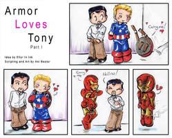Armor Loves Tony by GalacticDustBunnies