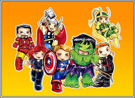 Avengers by GalacticDustBunnies