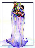 Batfamily Love by GalacticDustBunnies