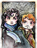 John and Sherlock by GalacticDustBunnies