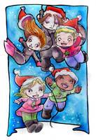Christmas Cap Pile by GalacticDustBunnies