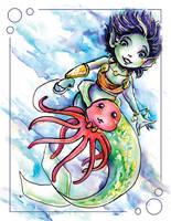 Pet Octopus by GalacticDustBunnies