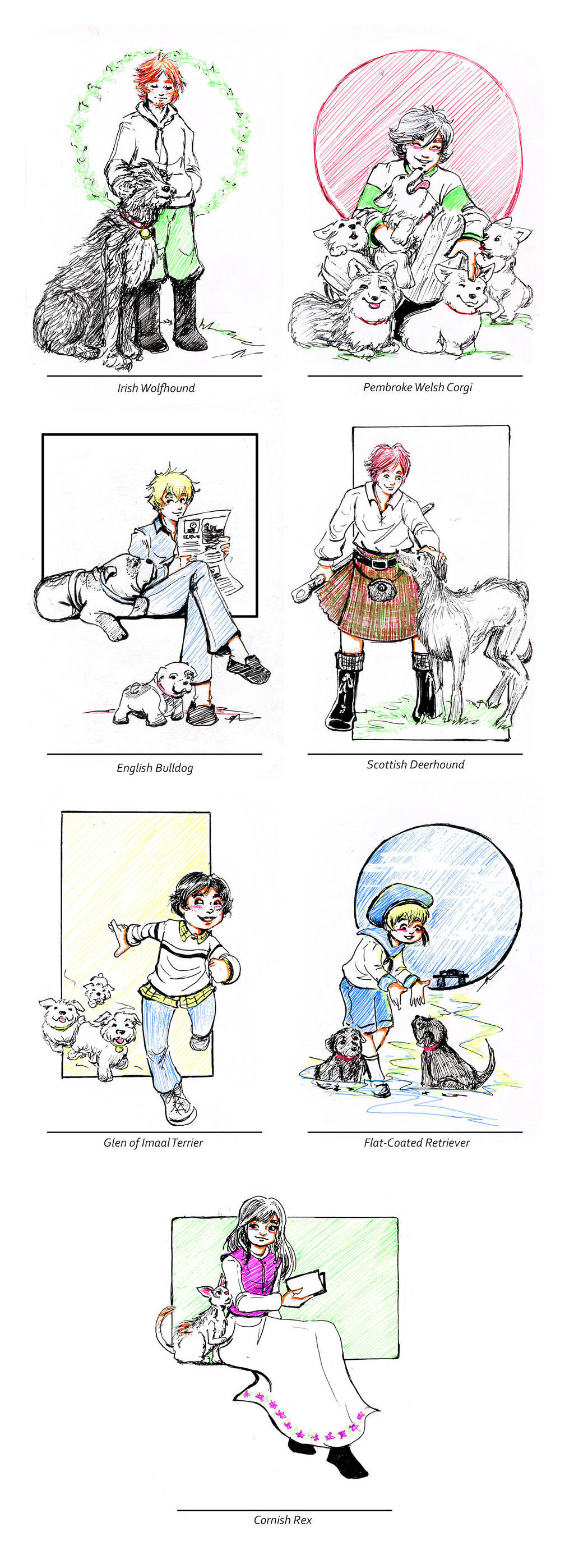 British Isles and Dogs - plus one cat by GalacticDustBunnies