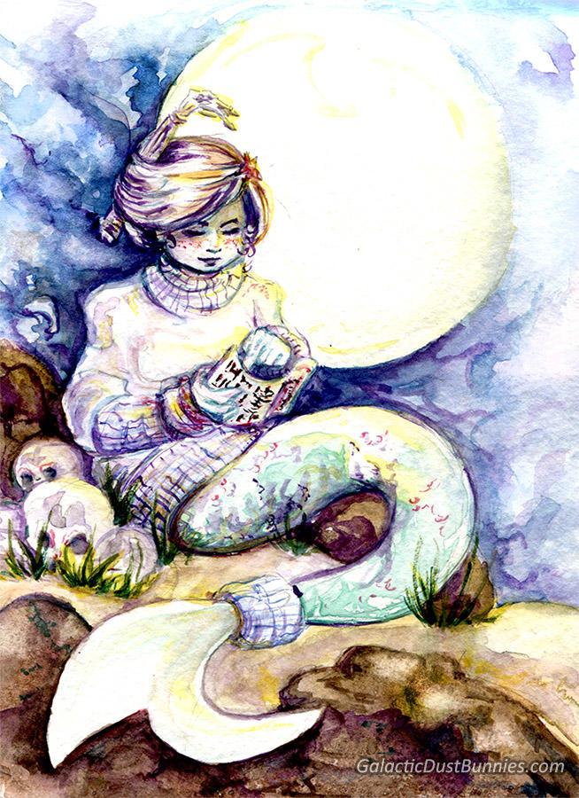 Readingbymoonlight by GalacticDustBunnies