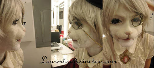 White rabbit close up by Laurentea