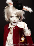 White rabbit Alice wonderland by Laurentea