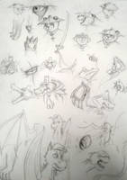 My Ocs sketches by DevennaSori
