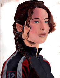 Katniss Everdeen Portrait 1e by MermaidGirlForever