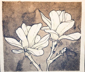 Coffee and Ink Blossoms by Miss-Linna