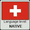 Swiss German language level NATIVE by TheFlagandAnthemGuy