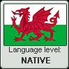 Welsh language level NATIVE by TheFlagandAnthemGuy