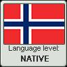 Norwegian language level NATIVE by TheFlagandAnthemGuy