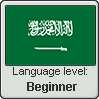 Saudi Arabic language level BEGINNER by TheFlagandAnthemGuy