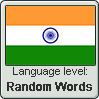 Hindi language level RANDOM WORDS by TheFlagandAnthemGuy