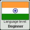 Hindi language level BEGINNER by TheFlagandAnthemGuy