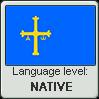 Asturian language level NATIVE by TheFlagandAnthemGuy