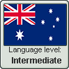 Australian English language level INTERMEDIATE by TheFlagandAnthemGuy
