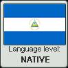 Nicaraguan Spanish language level NATIVE by TheFlagandAnthemGuy