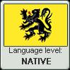 Flemish language level NATIVE by TheFlagandAnthemGuy