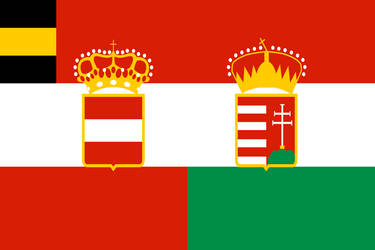 Austro-Hungary Admiral's flag (1868) by TheFlagandAnthemGuy