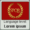 Latin language level LOREM IPSUM by TheFlagandAnthemGuy