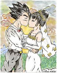 gohan videl's wedding by Celious