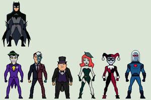 Batman + Rogues Gallery (Justice League Action) by Stuart1001
