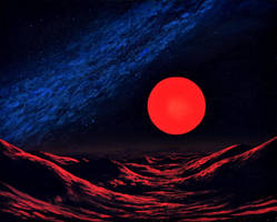 Red sunset by Axel-Astro-Art