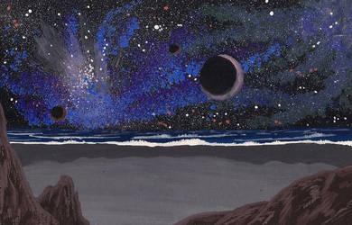 Cosmic beach by Axel-Astro-Art