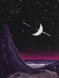Purple beach by Axel-Astro-Art