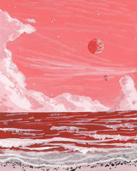 Red sea by Axel-Astro-Art