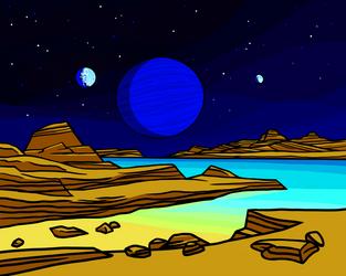 Tritonian pools by Axel-Astro-Art