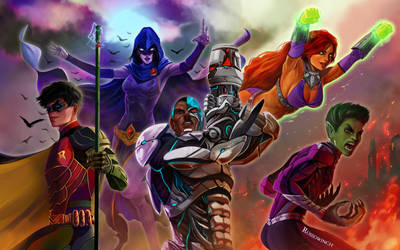 Teen Titans by RossoWinch