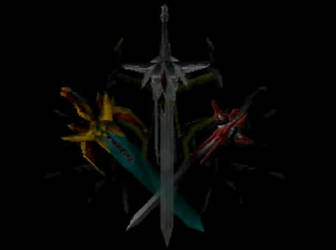 Moonlight Sword Dark Slayer and Excellector by McOuchies