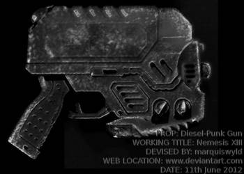 gun prop concept by marquiswyld