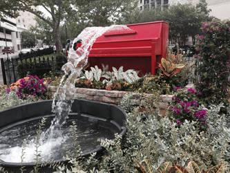 Piano fountain by kuroanime