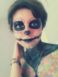 Skull Makeup by beaniek4