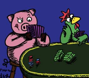 Poker's pig by V0icEs0fSpring