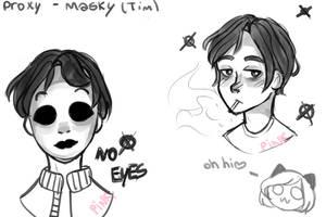 Masky (sketches) by PinkMirukuu