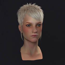 female head by KEileena